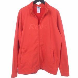 Reebok Y2K Orange Waffle Zip Track Jacket XL